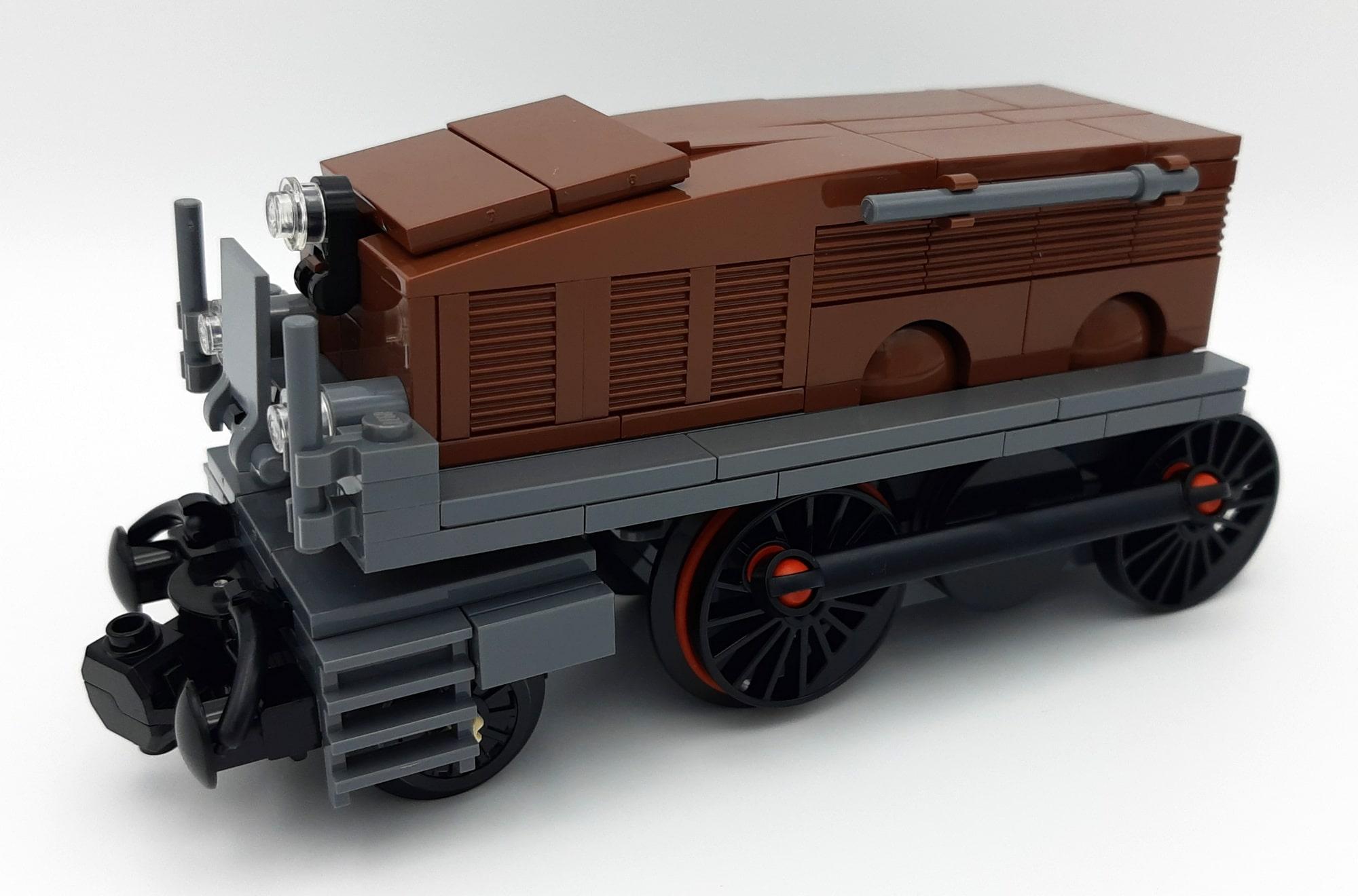 LEGO 10277 Krokodil Lokomotive - Bauabschnitt 4