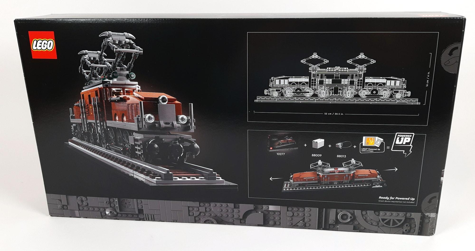 LEGO 10277 Krokodil Lokomotive - Box hinten