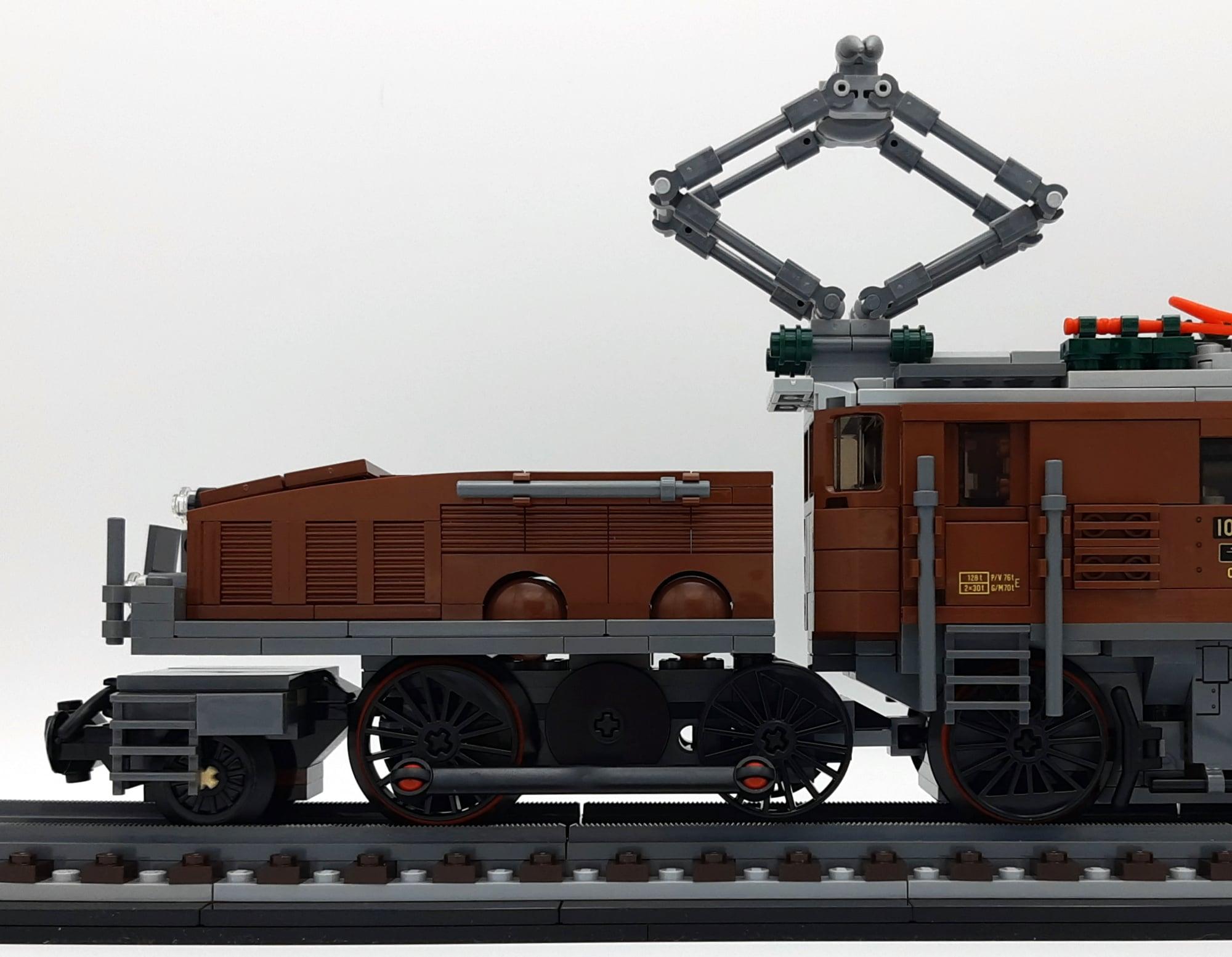 LEGO 10277 Krokodil Lokomotive - Detail Zwischenräume