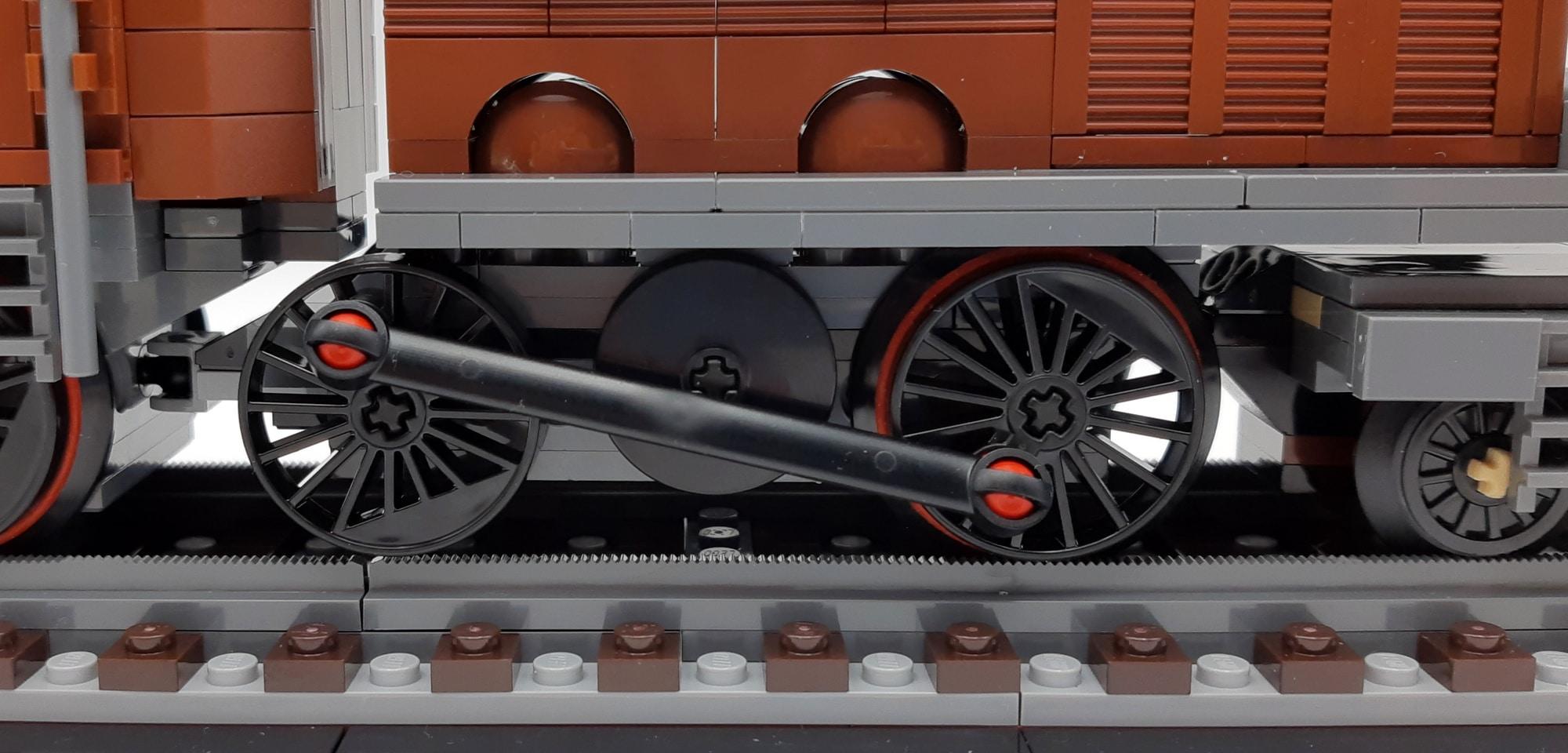 LEGO 10277 Krokodil Lokomotive - Kuppelstangen