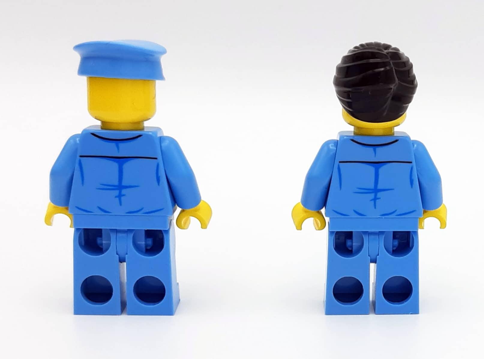 LEGO 10277 Krokodil Lokomotive - Minifiguren von hinten