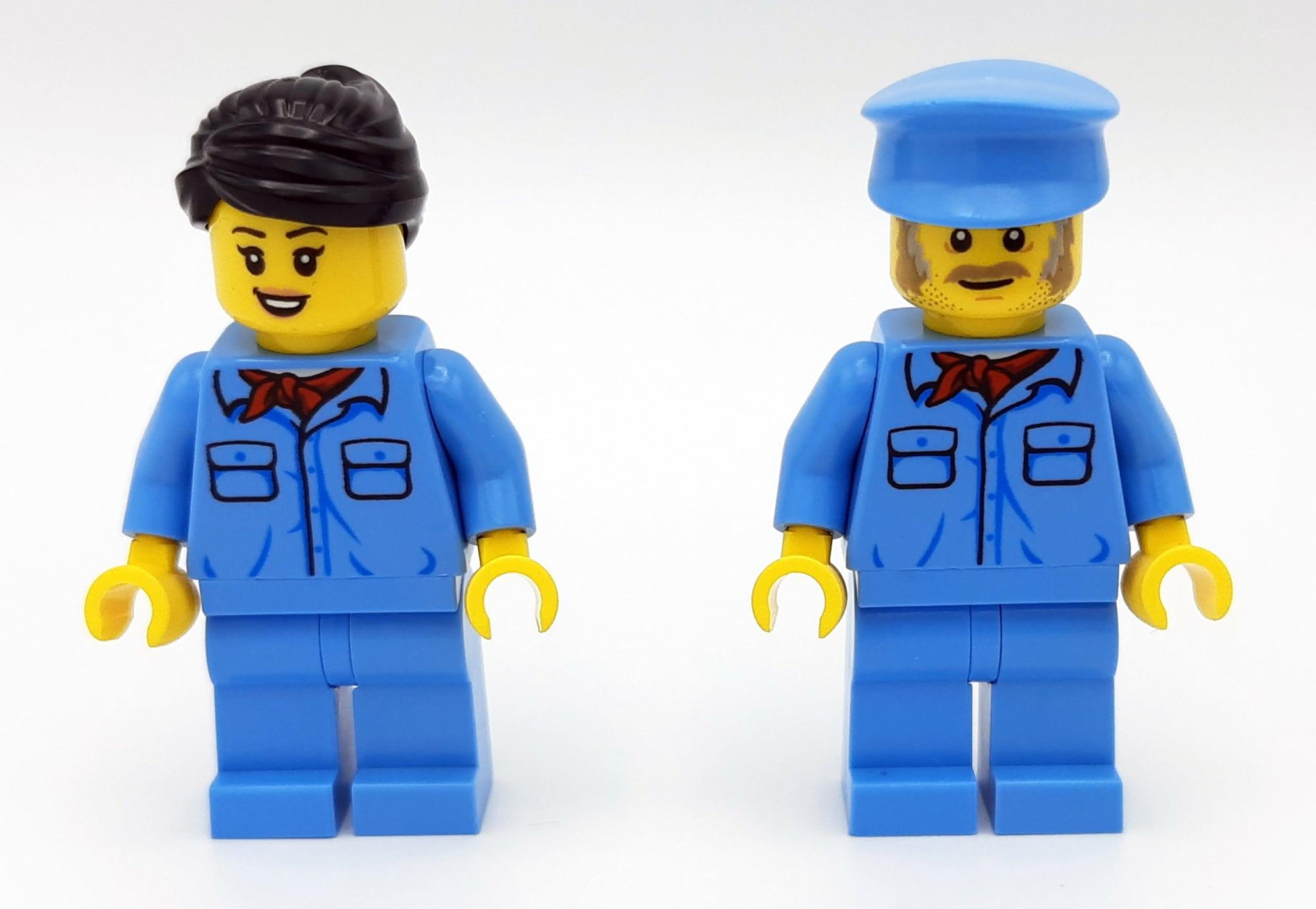 LEGO 10277 Krokodil Lokomotive - Minifiguren von vorne