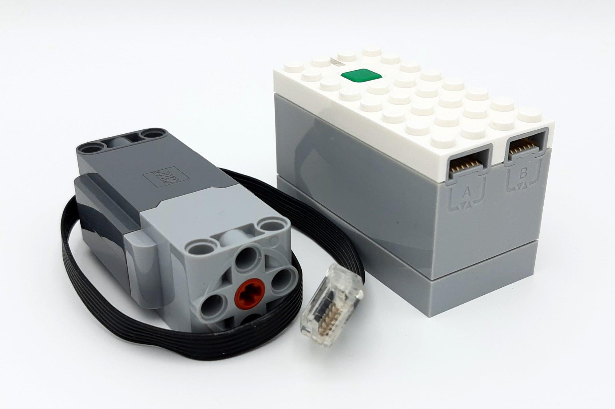 LEGO 10277 Krokodil Lokomotive - Motor und Hub