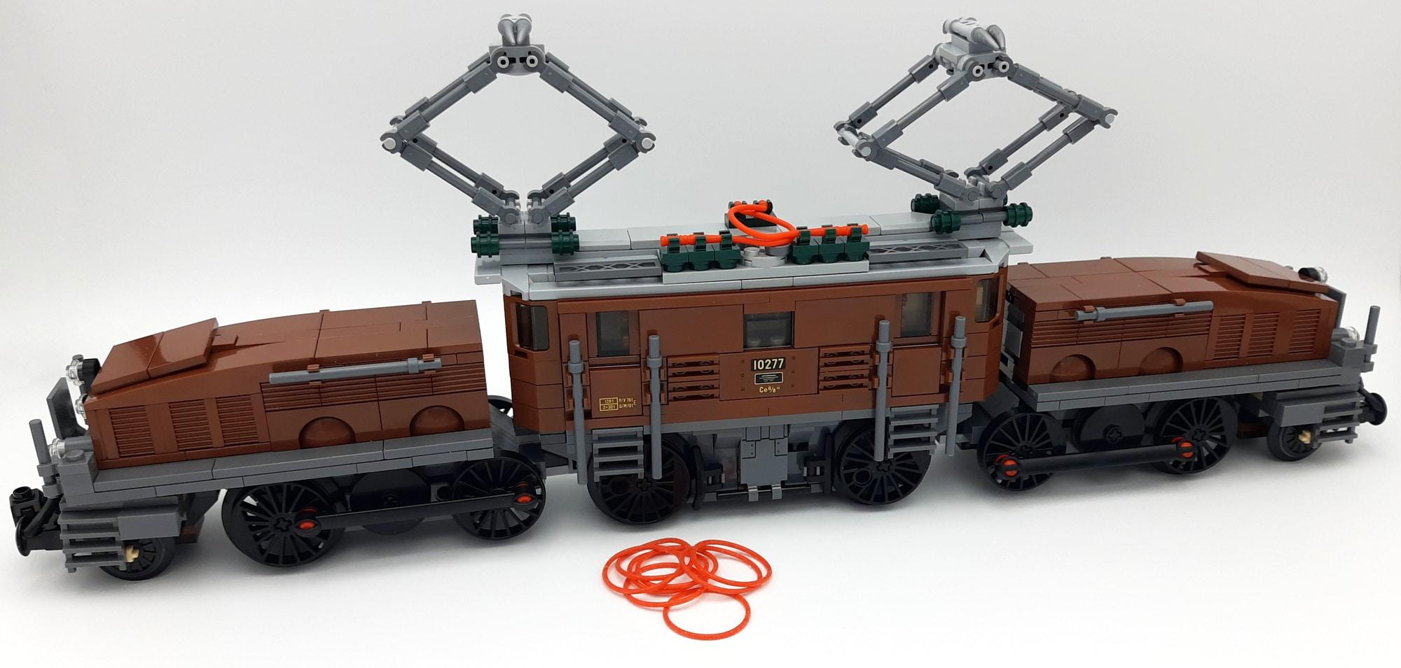 LEGO 10277 Krokodil Lokomotive - Ohne Gummiringe