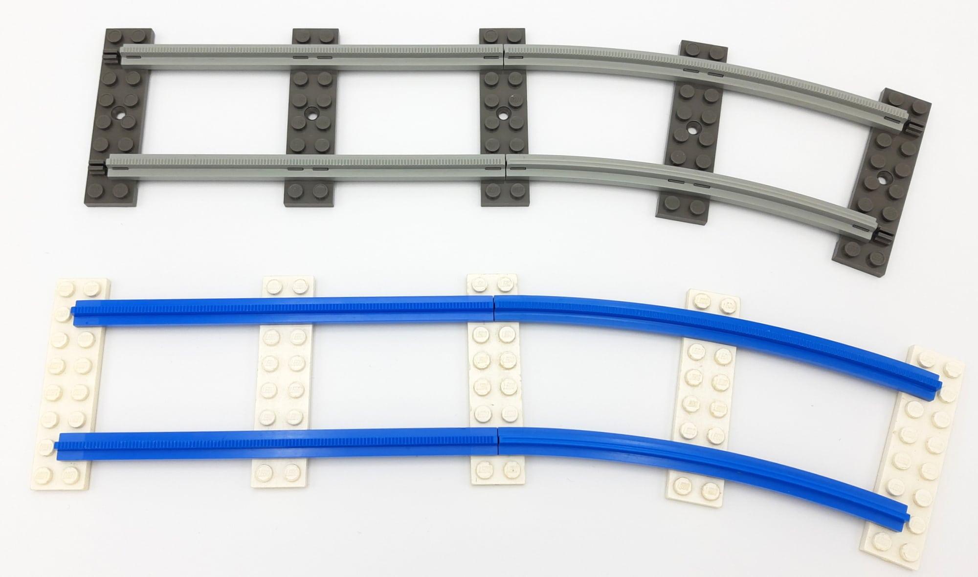 LEGO 10277 Krokodil Lokomotive - Verwendete Schienen
