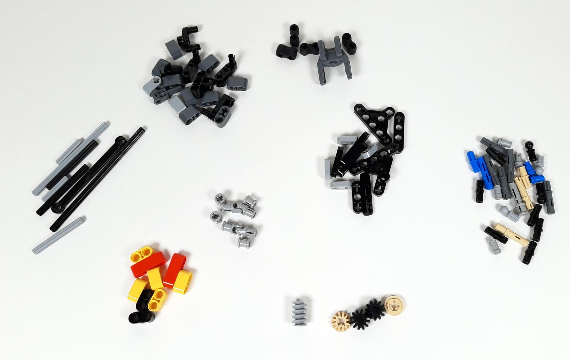 LEGO 42023 Mercedes-Benz Arocs B-Modell - Restliche Teile
