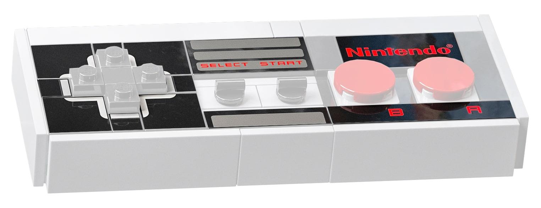 LEGO 71374 NES Controller bedruckte Teile