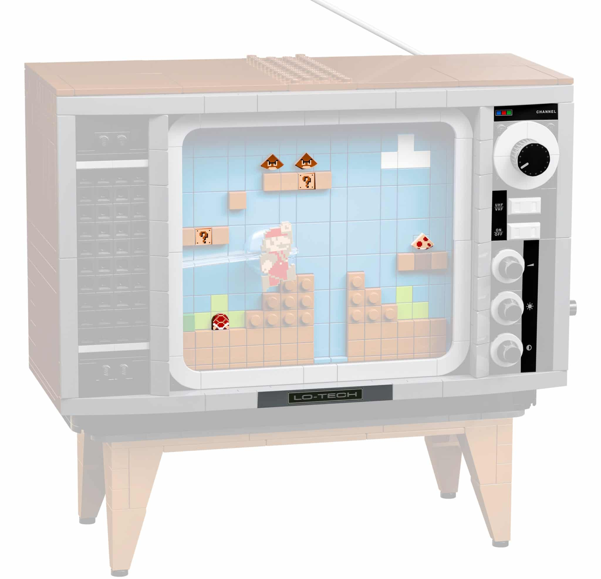 LEGO 71374 NES Fernseher bedruckte Teile