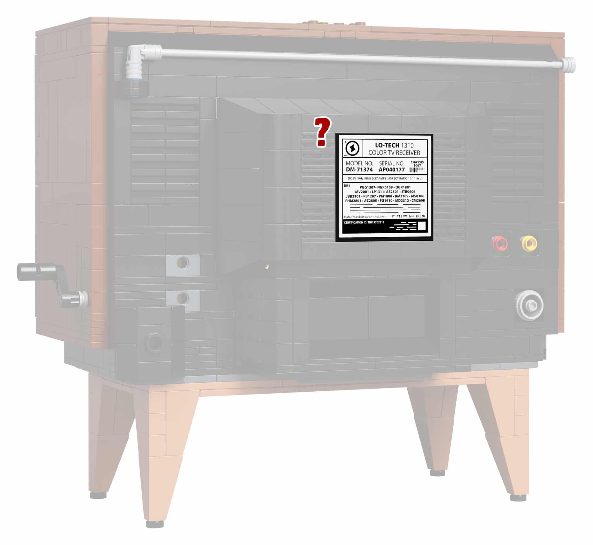 LEGO 71374 Fernseher Rückseite: Sticker oder Druck?