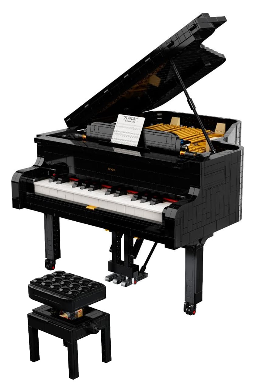 LEGO Ideas Piano Entwurf vs. Finales Set