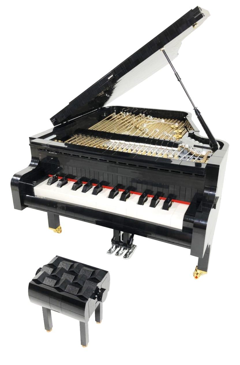 LEGO Ideas Piano Entwurf vs. Finales Set