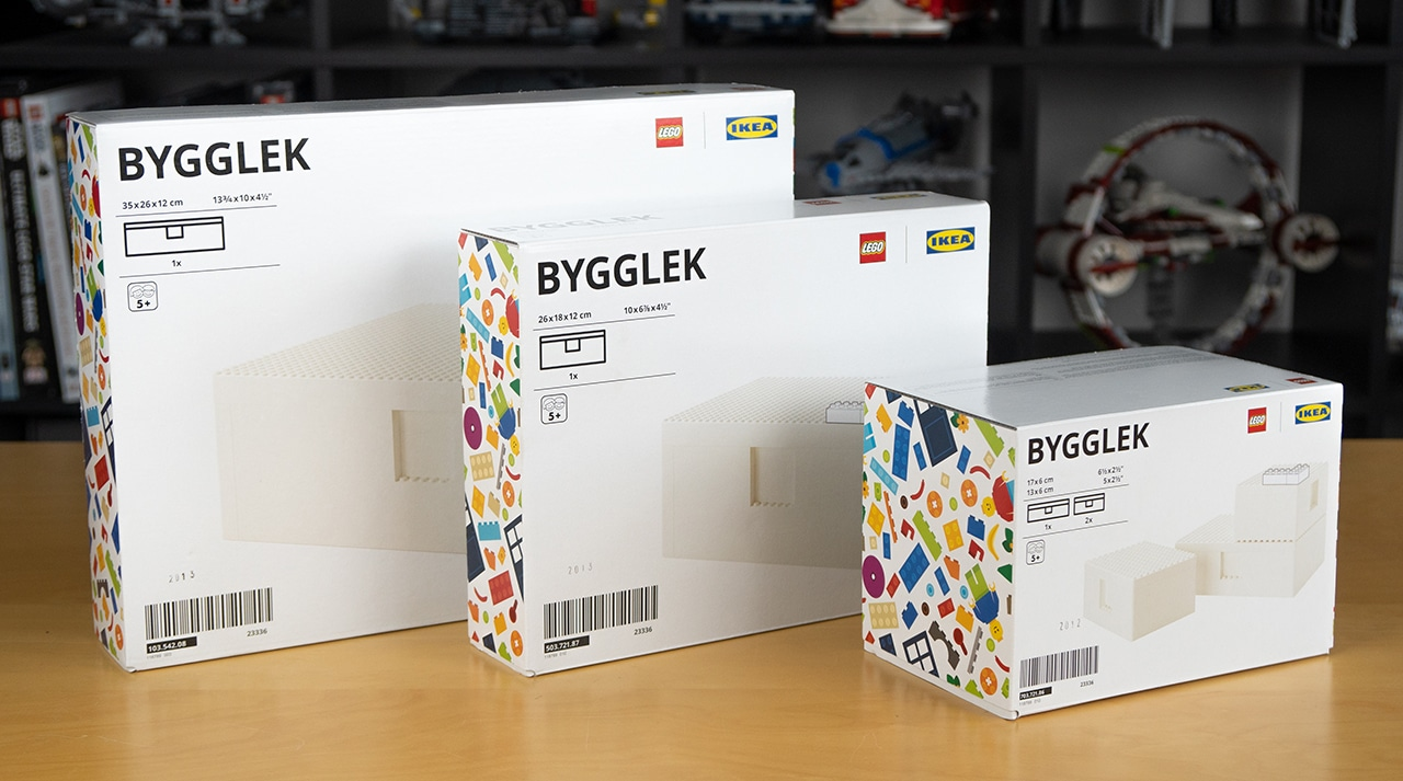 LEGO x IKEA BYGGLEK boxes packaging