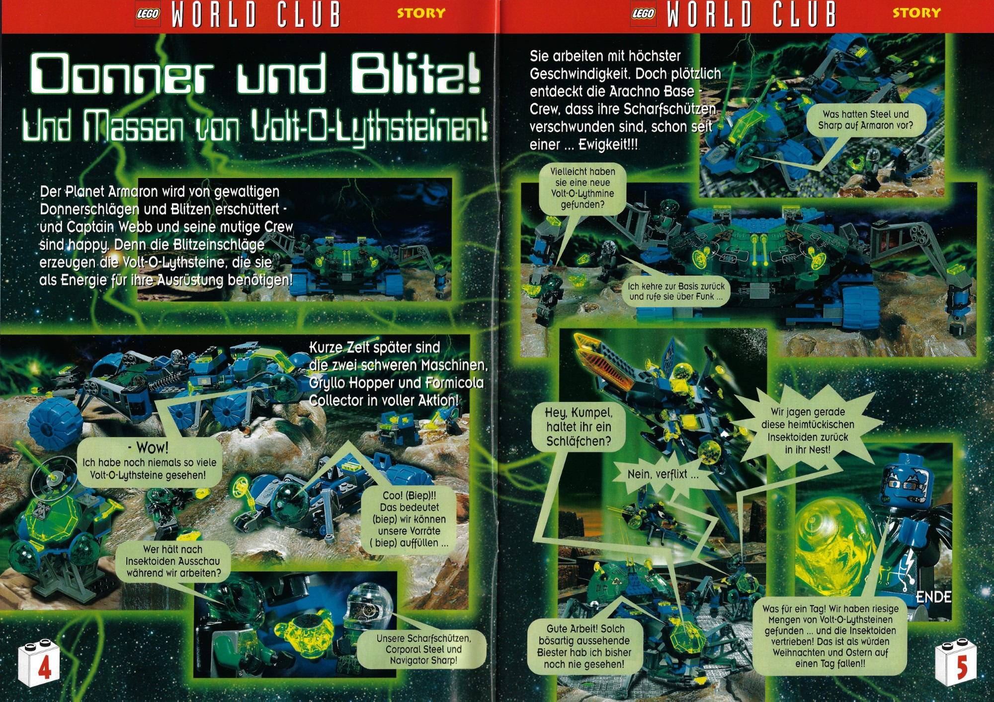 LEGO Insectoids World Club Magazin 1998 11 12