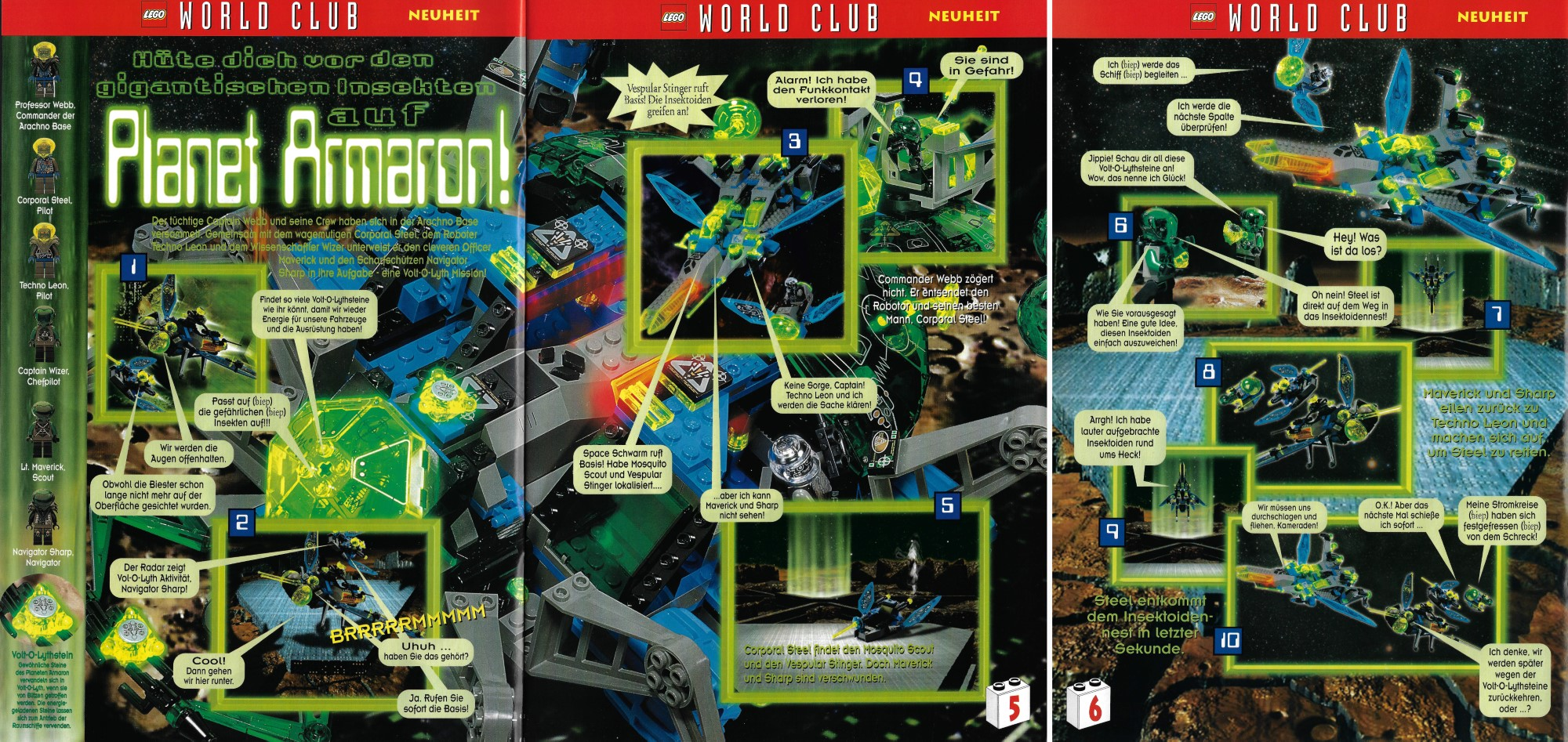 LEGO Insectoids World Club Magazin 1998 09 10