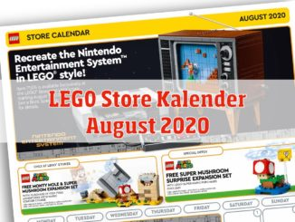 LEGO Store August 2020 Calender