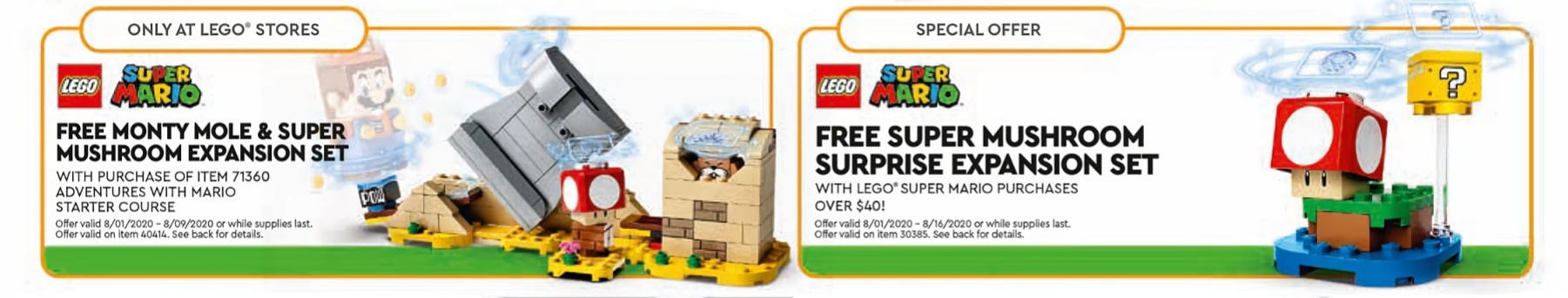 LEGO Store August 2020 Calender Gwp