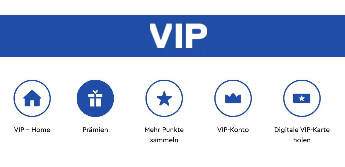 LEGO VIP Programm: Neues Menü