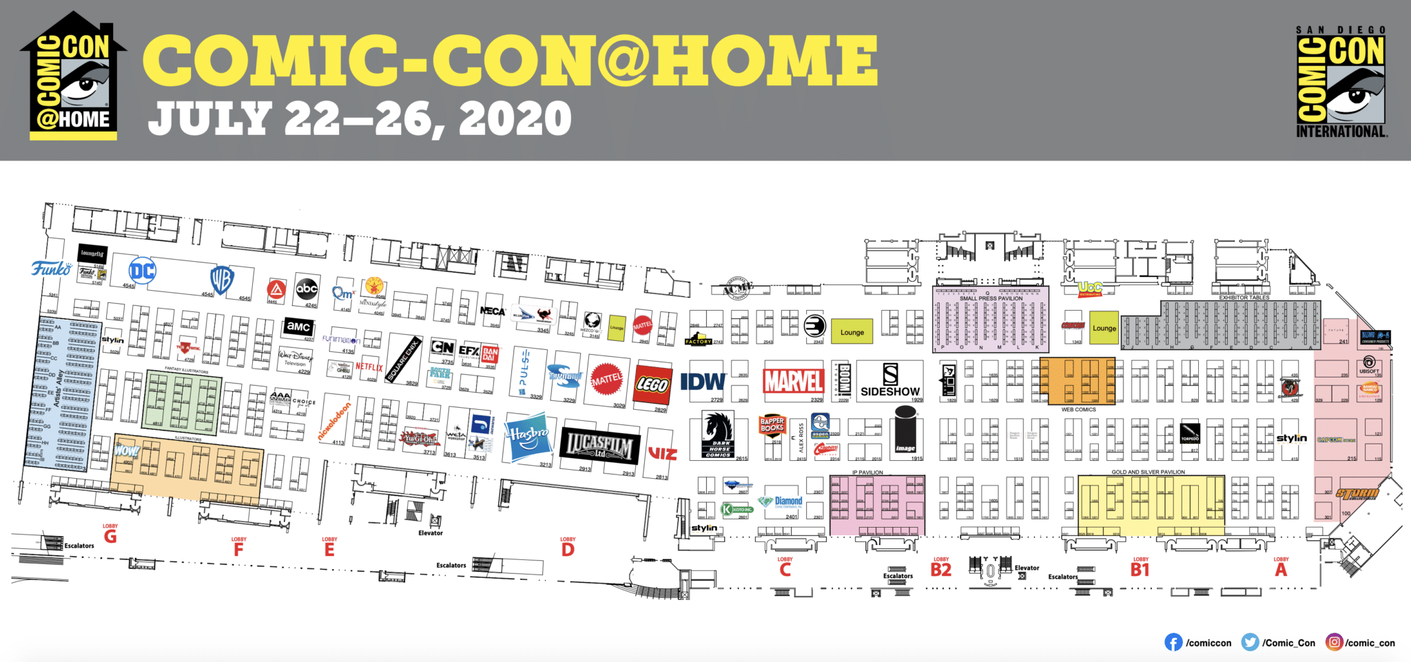 SDCC Floor Plan 2020