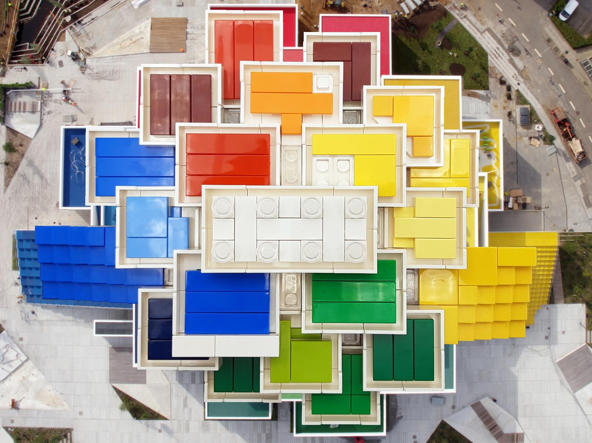 LEGO 21037 LEGO House - Ansicht von oben 2