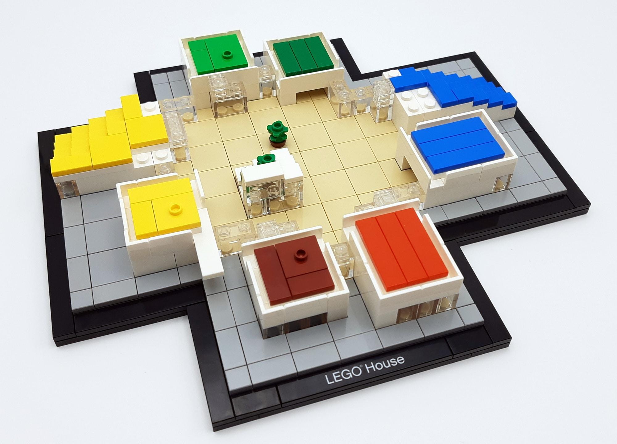 LEGO 21037 - LEGO House Baubschnitt Erdgeschoss