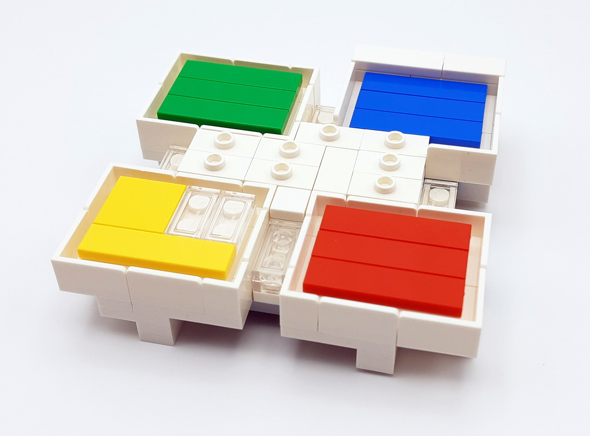 LEGO 21037 - LEGO House Baubschnitt erster Stock 1