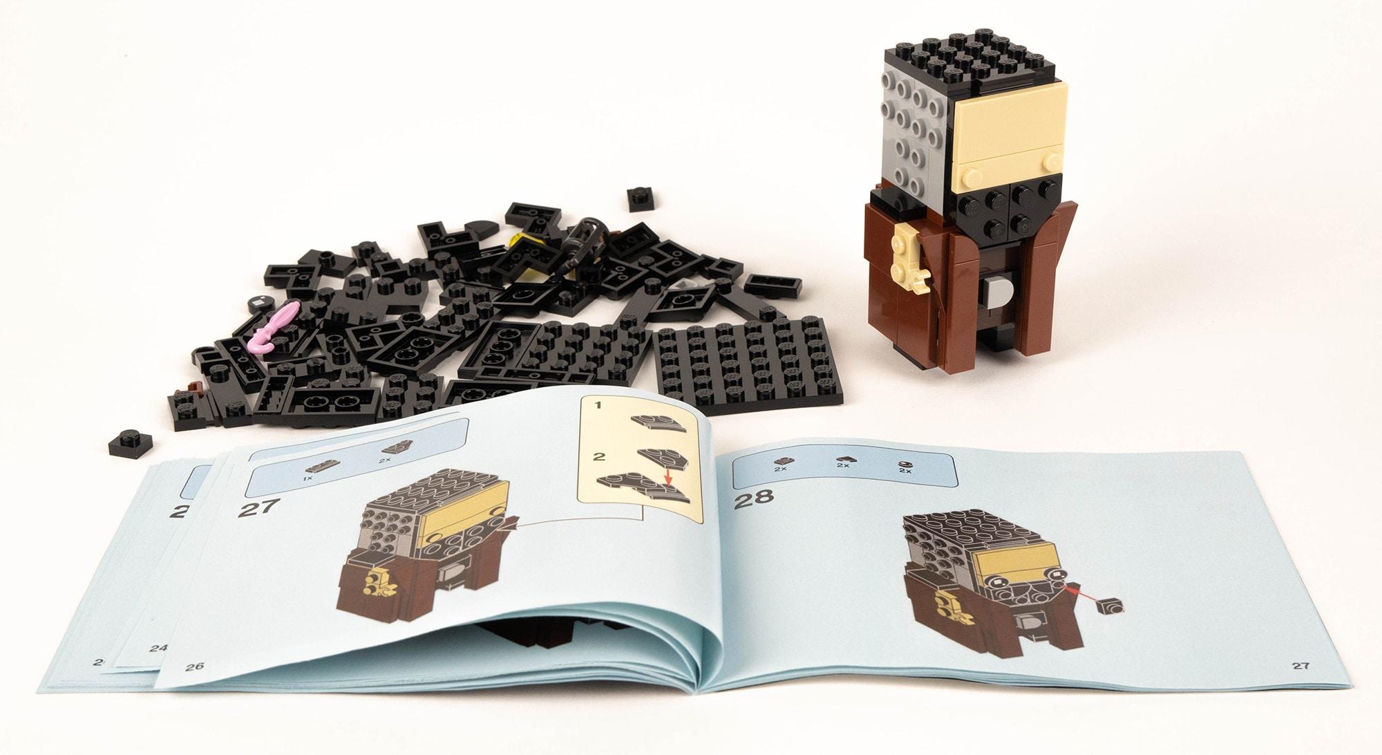 LEGO 40412 Hagrid Seidenschnabel Brickheadz Review 5