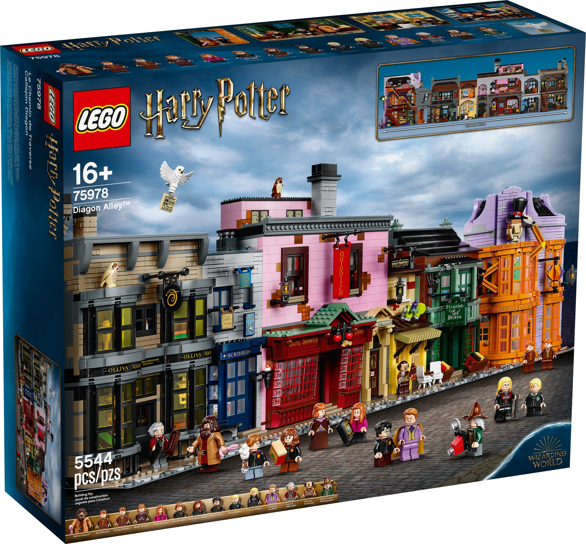 LEGO Harry Potter 75978 Winkelgasse Produktbilder 8