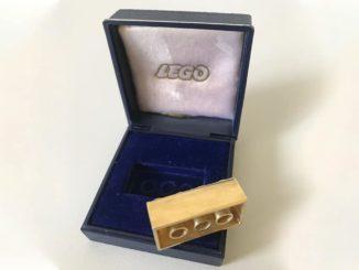 LEGO Stein 14K Gold Auktion