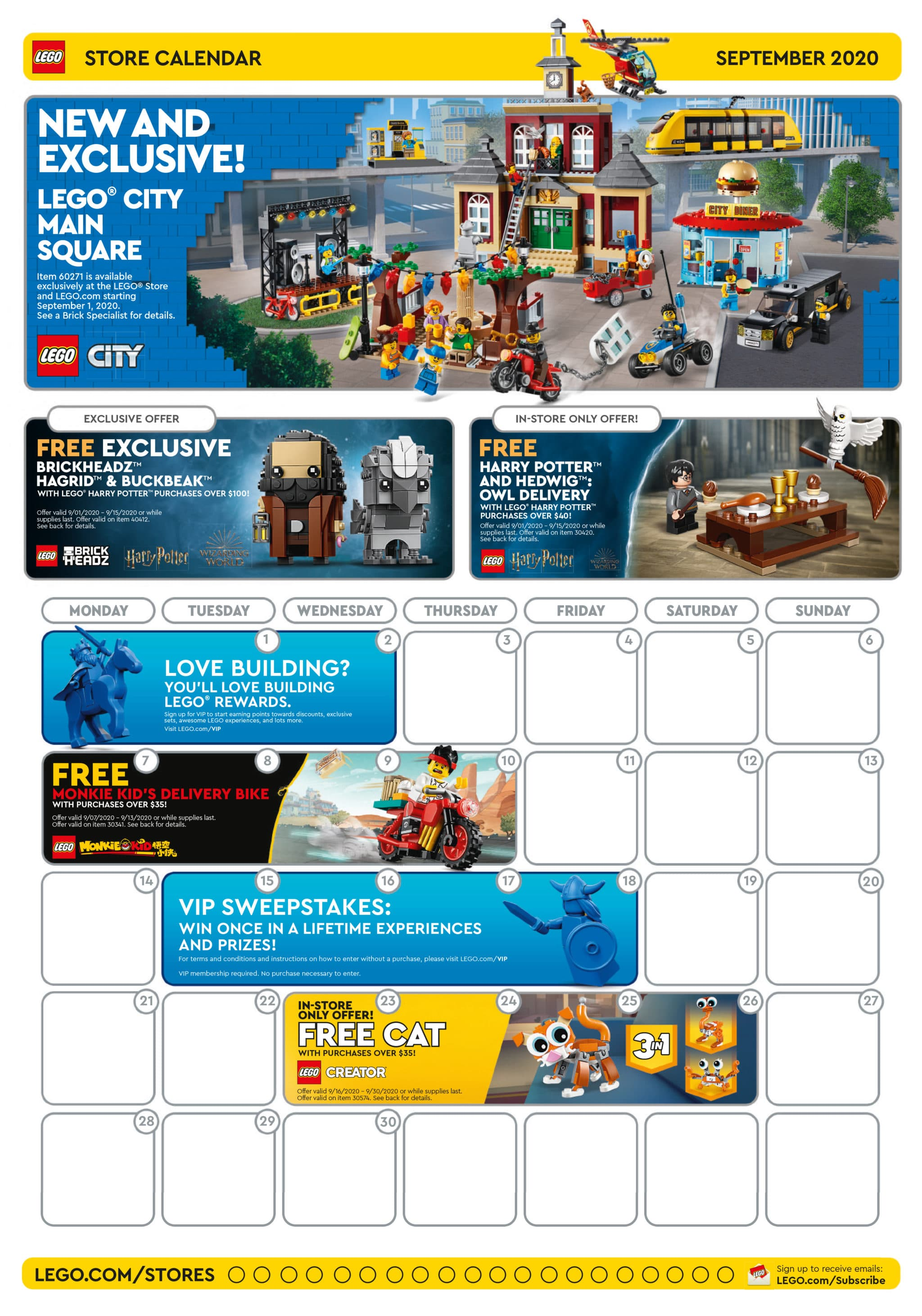 LEGO Store Flyer September 2020 USA Seite 1