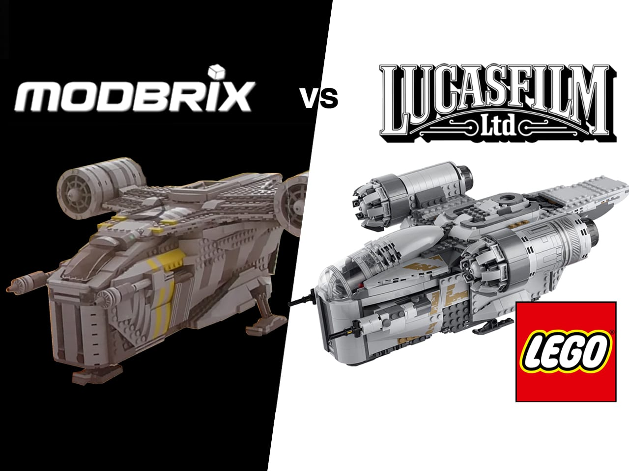 "Modbrix vs LEGO & Lucasfilm: Der Fall der Marke ""Razor Crest"""