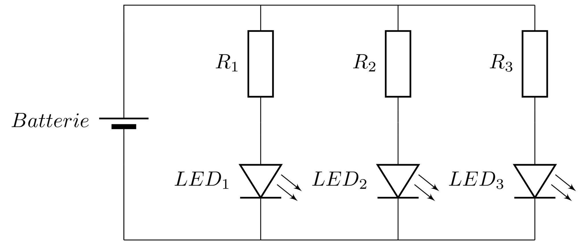 Schaltung LED Parallel