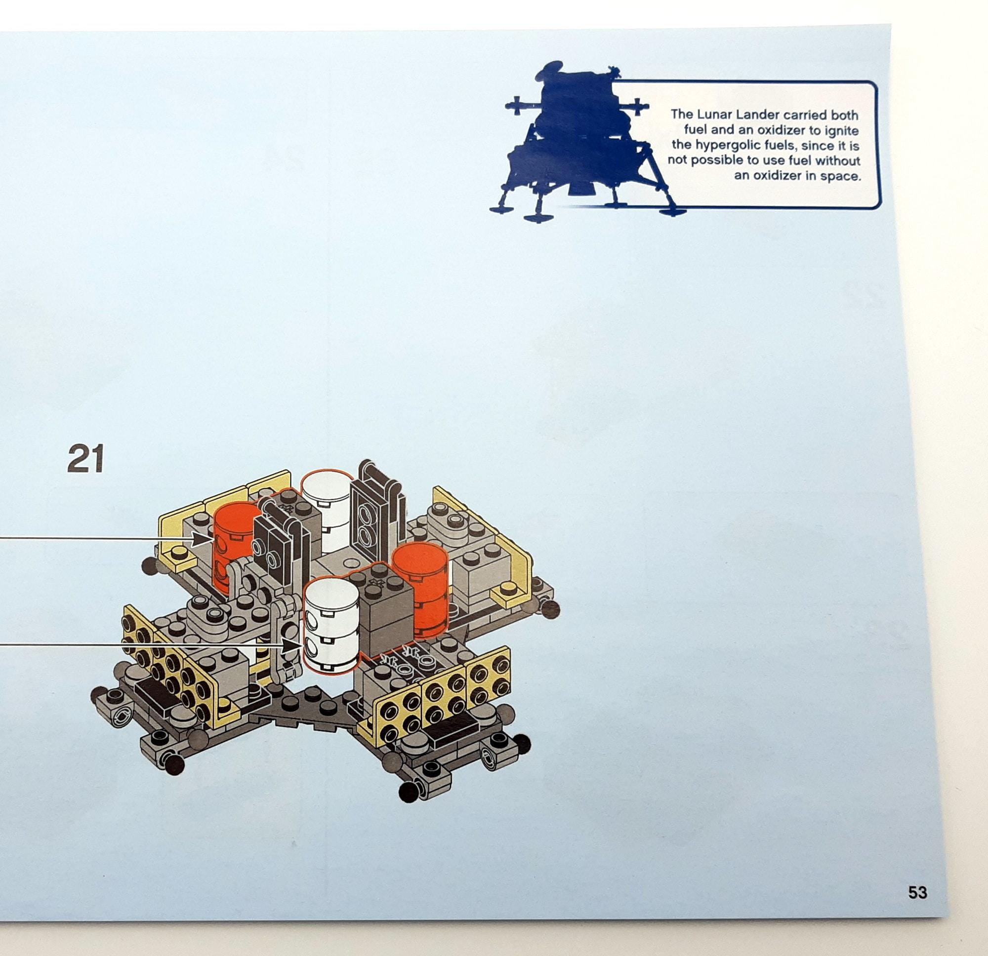 LEGO 10266 Nasa Apollo 11 Mondlandefähre - Anleitung mit Infotext