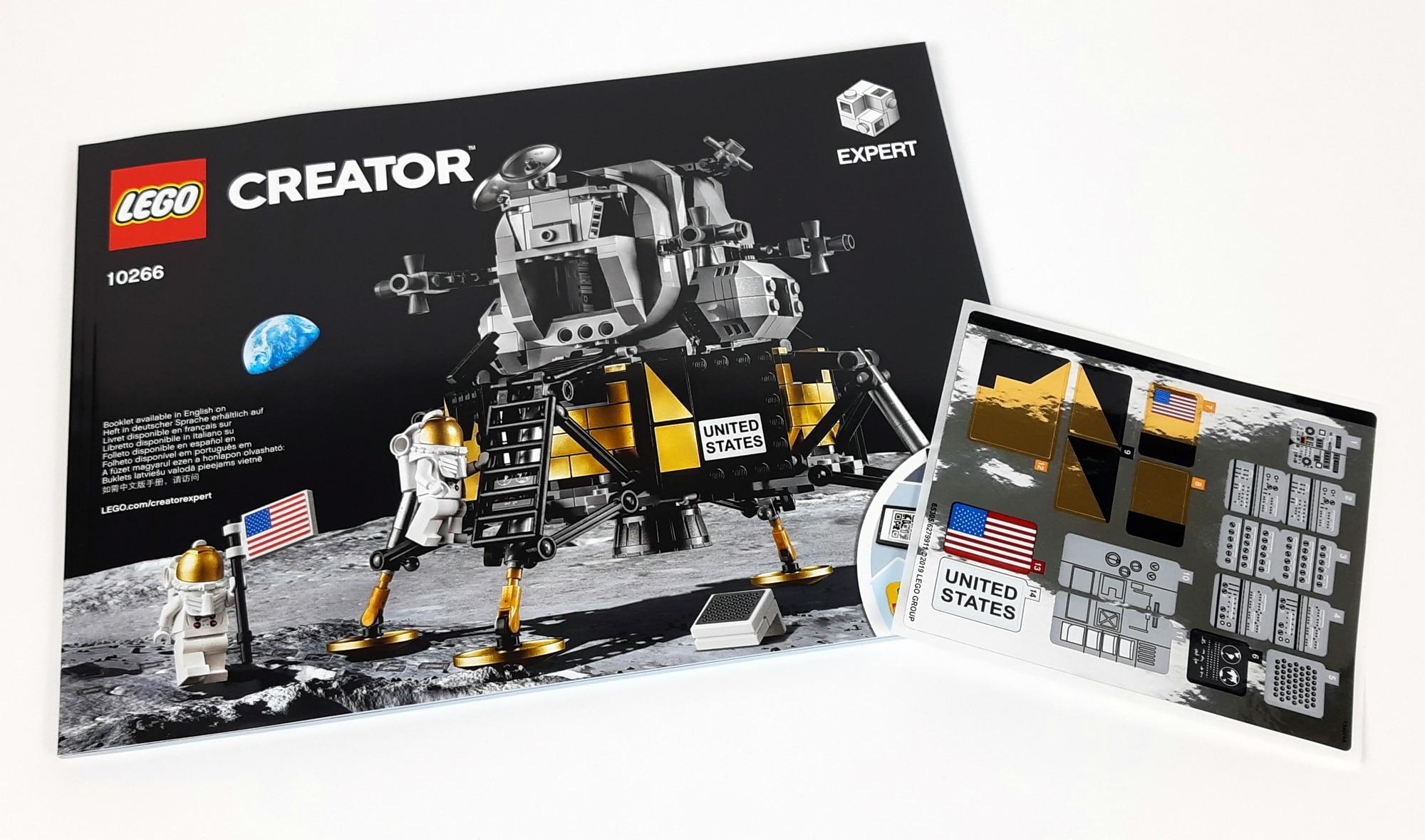 LEGO 10266 Nasa Apollo 11 Mondlandefähre - Anleitung und Sticker