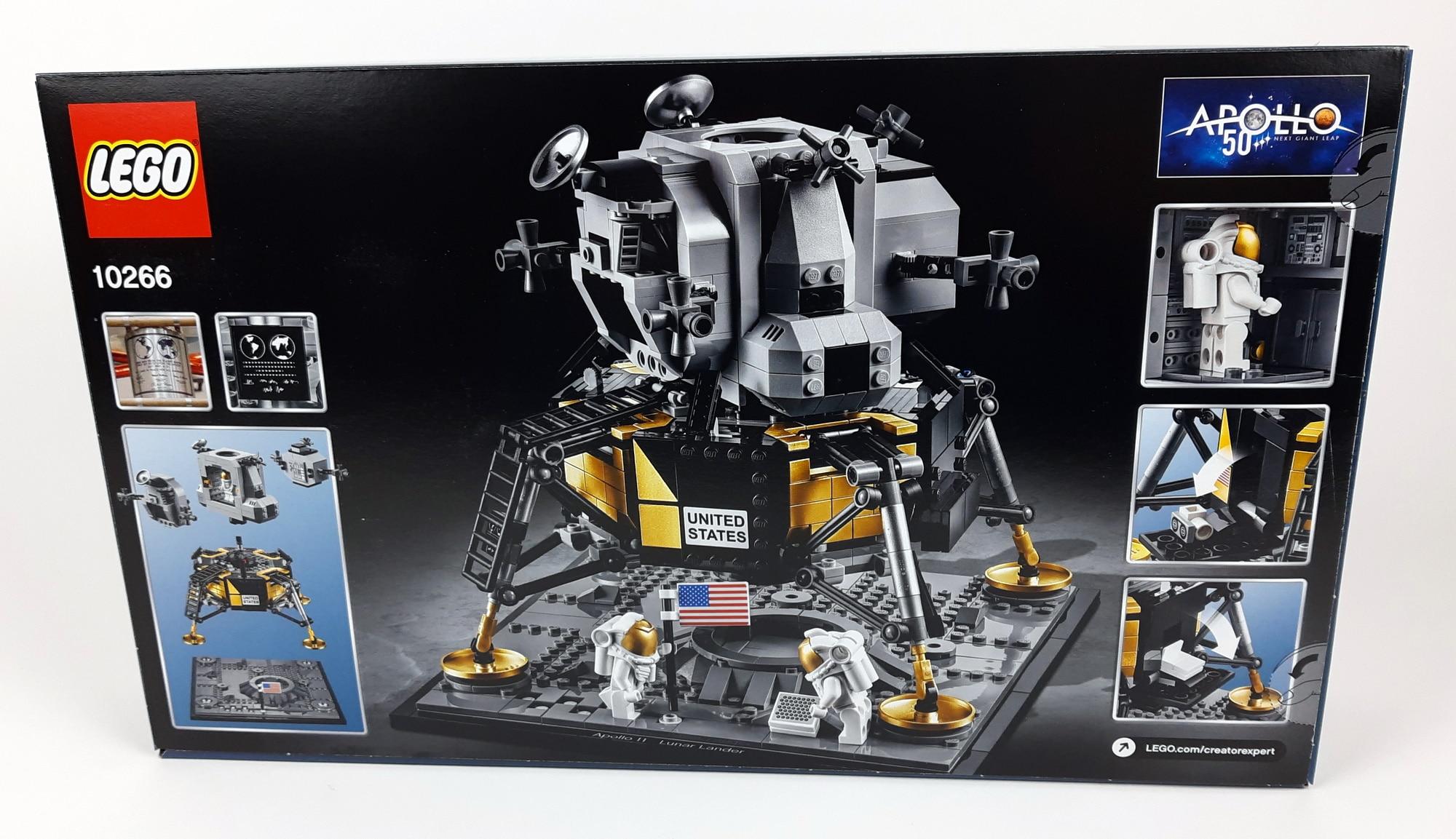 LEGO 10266 Nasa Apollo 11 Mondlandefähre - Box hinten