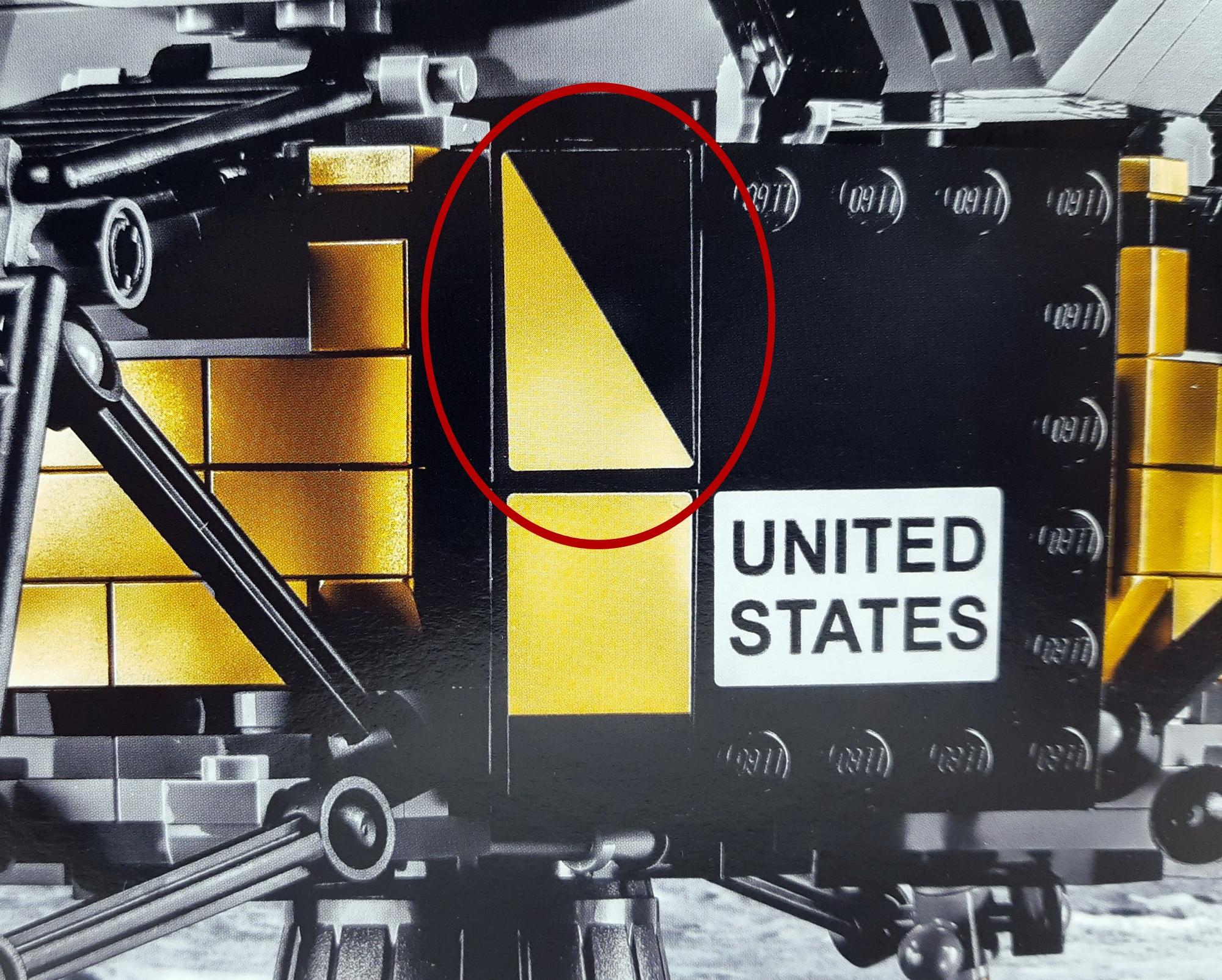LEGO 10266 Nasa Apollo 11 Mondlandefähre - Box mit schiefem Aufkleber