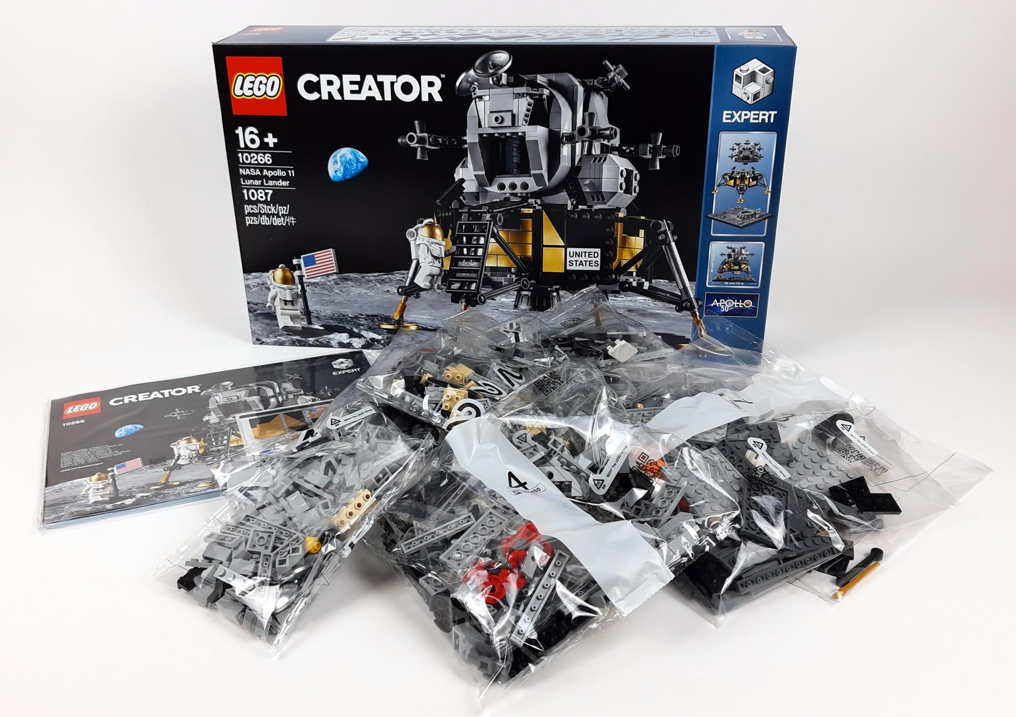 LEGO 10266 Nasa Apollo 11 Mondlandefähre - Box und Inhalt