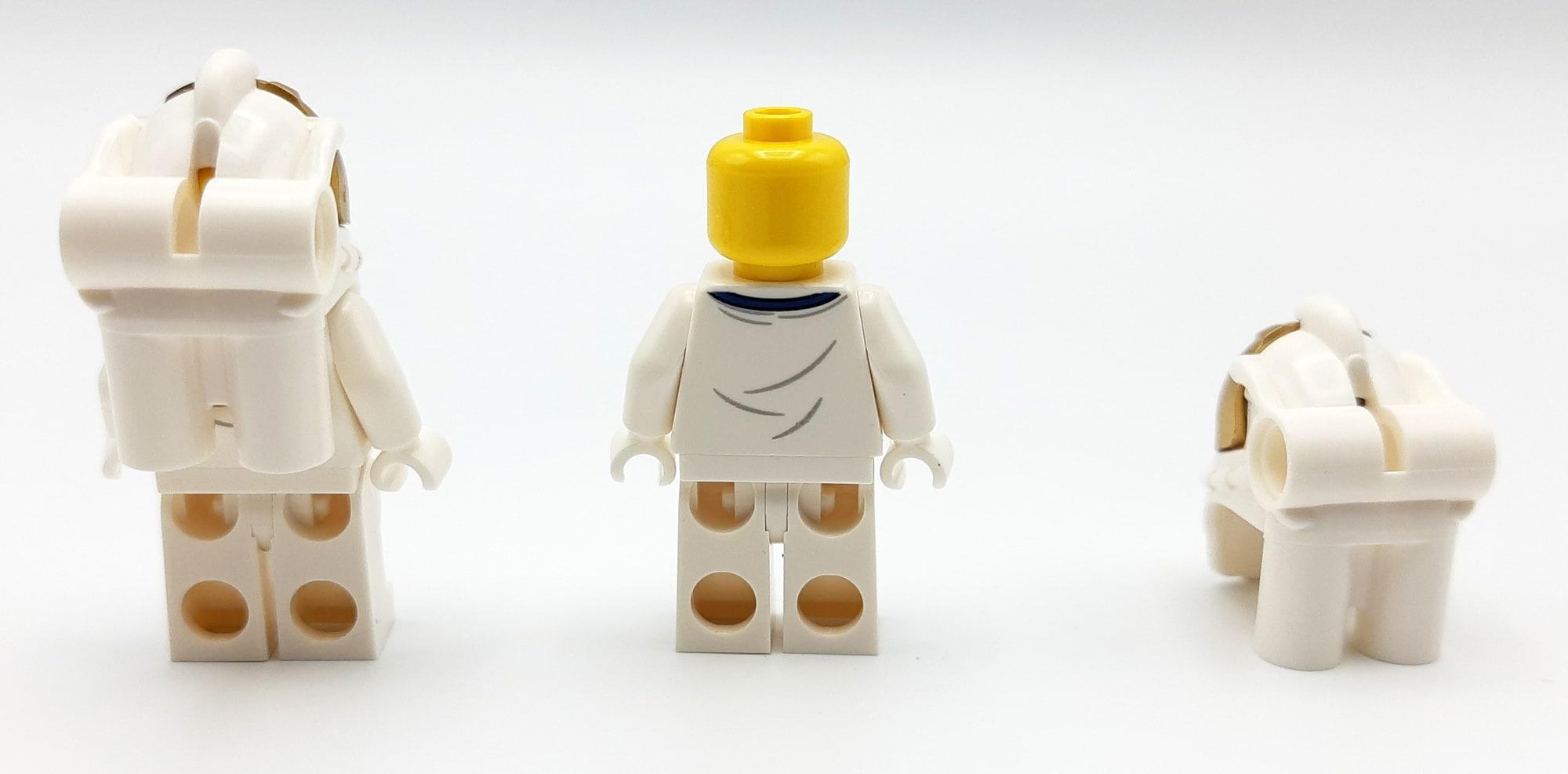 LEGO 10266 Nasa Apollo 11 Mondlandefähre - Minifiguren hinten