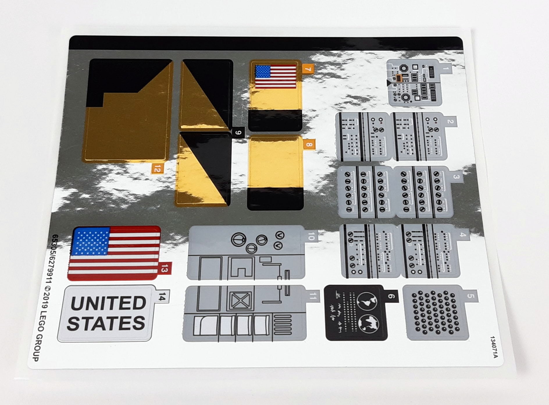 LEGO 10266 Nasa Apollo 11 Mondlandefähre - Sticker 1