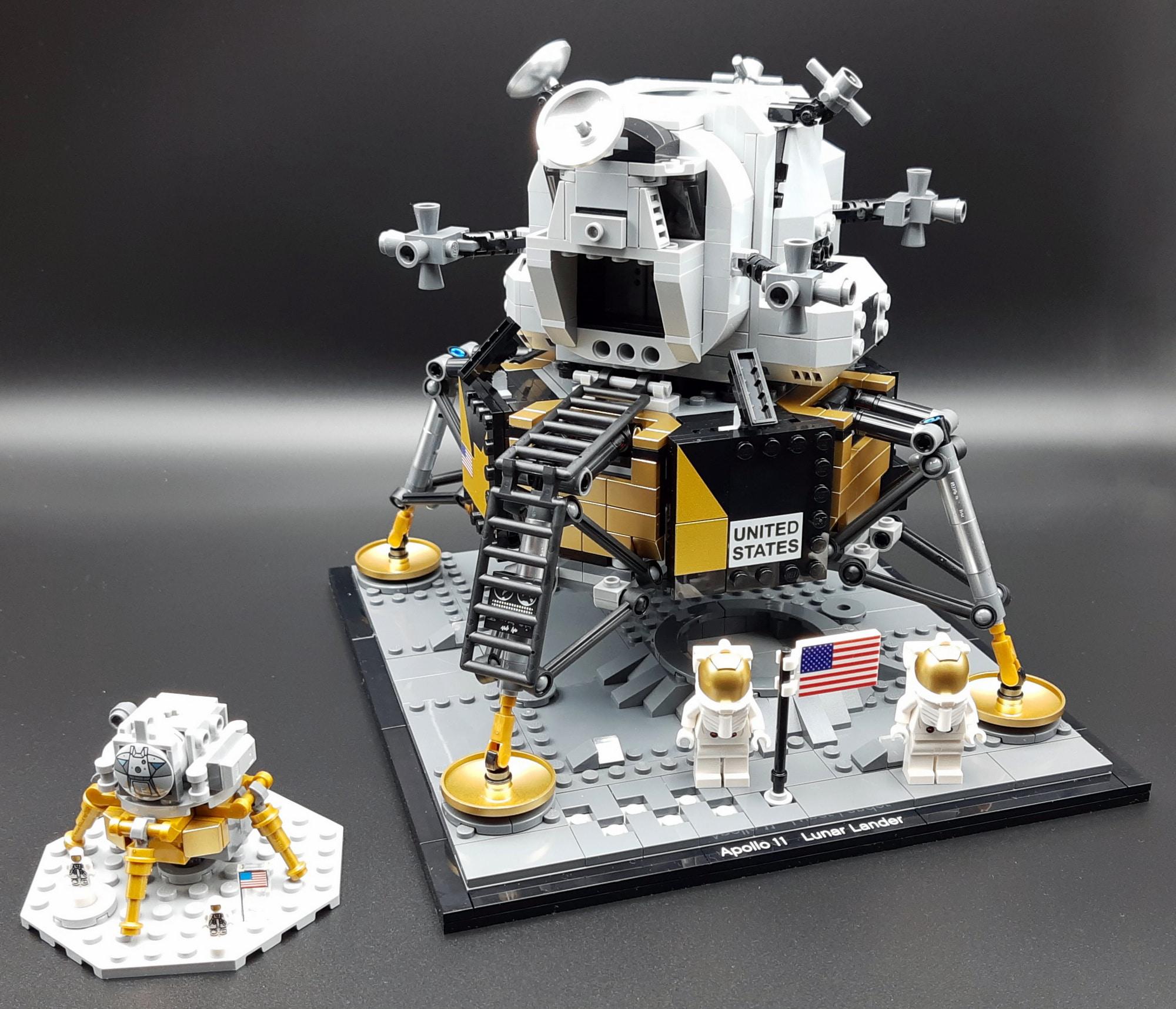 LEGO 10266 Nasa Apollo 11 Mondlandefähre - Vergleich mit Saturn V