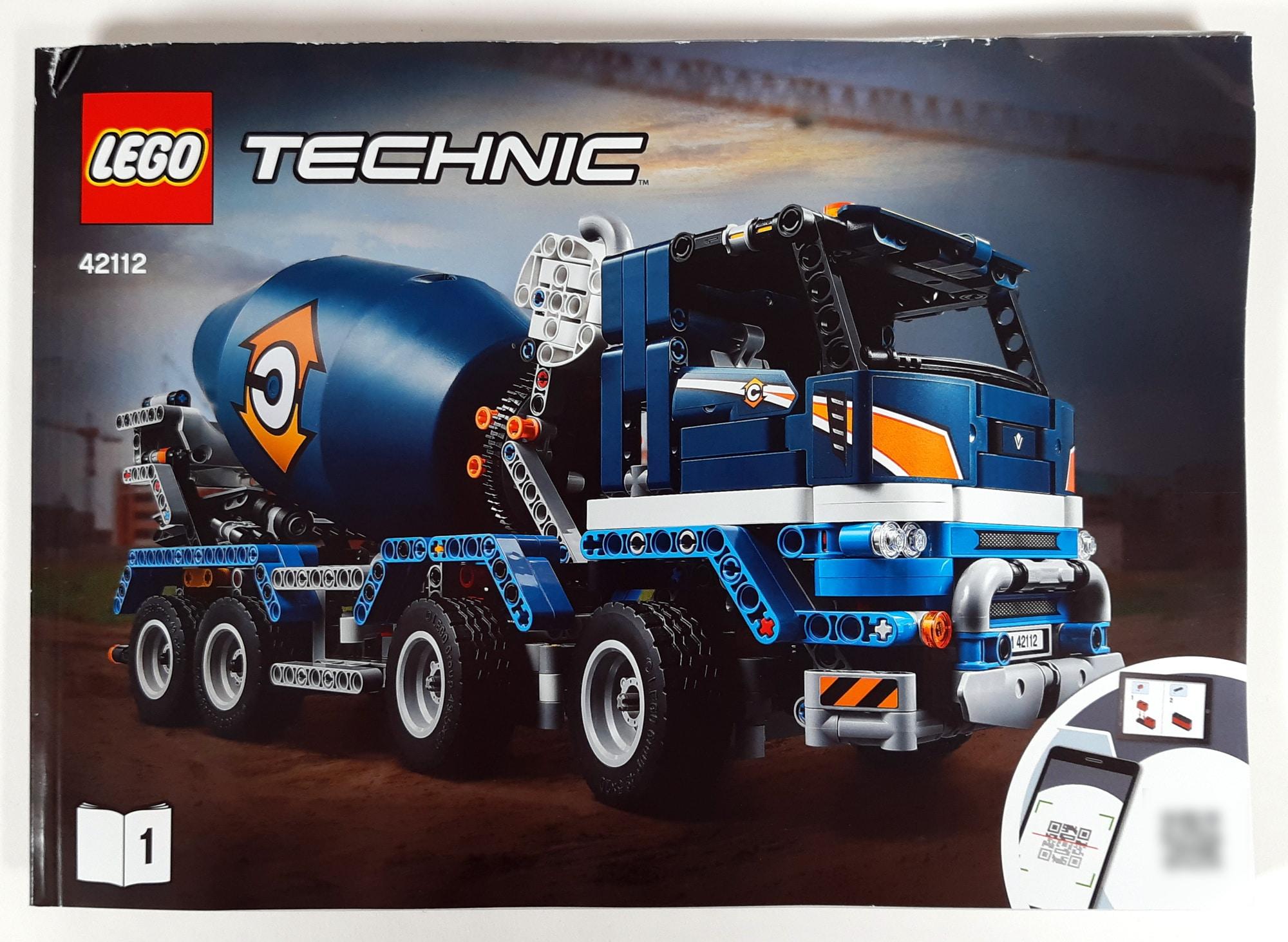 LEGO 42112 Betonmischer Lkw - Bauanleitung