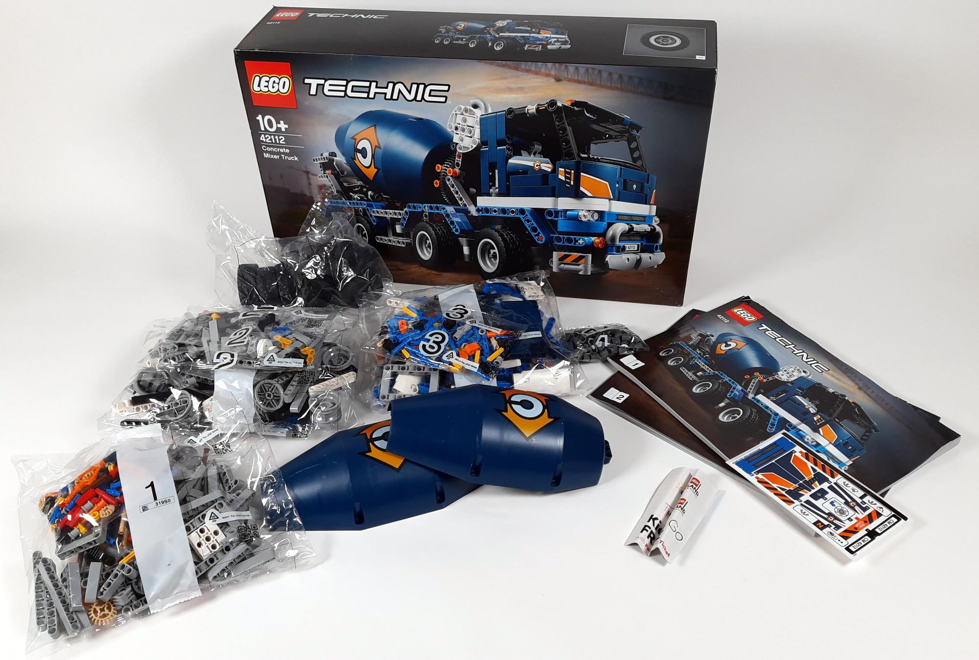 LEGO 42112 Betonmischer Lkw - Box und Inhalt