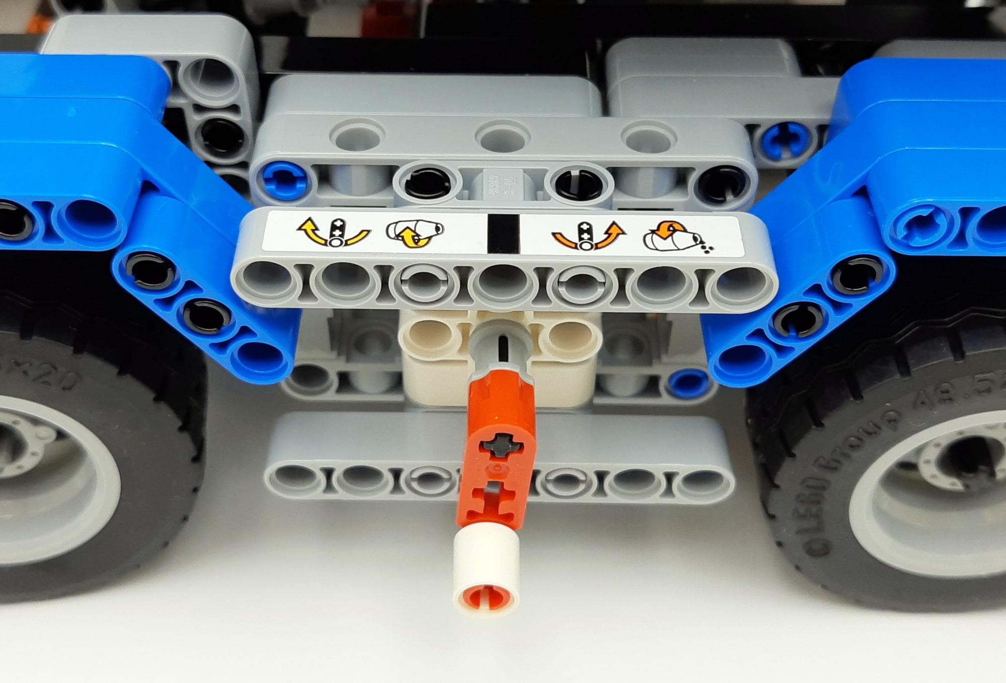 LEGO 42112 Betonmischer Lkw - Detail Kurbel