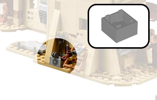LEGO Star Wars 75052 Mos Eisley Cantina Grau Kiste mit Imperialen Logo