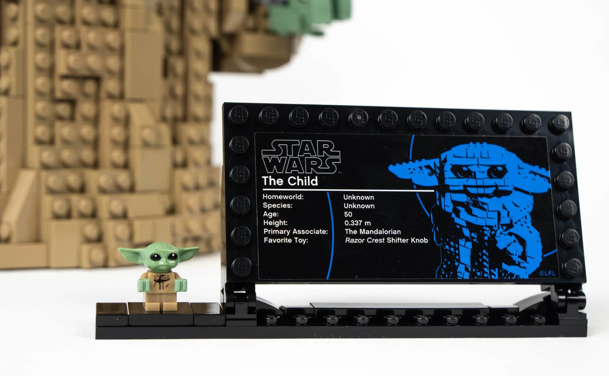 LEGO Star Wars 75318 The Child Typenschild