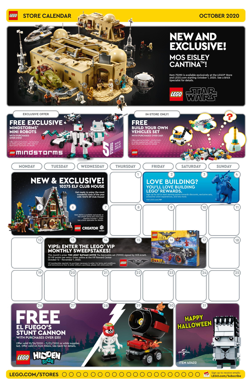 LEGO Store Flyer Oktober 2020 USA (Vorderseite)