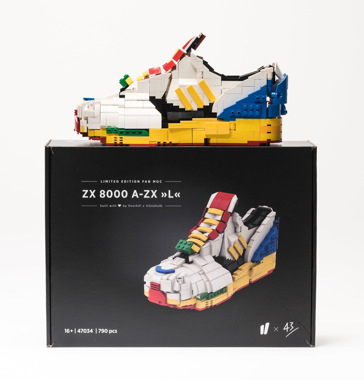 43einhalb & Overkill: Gratisbeilagen zum LEGO x adidas ZX 8000