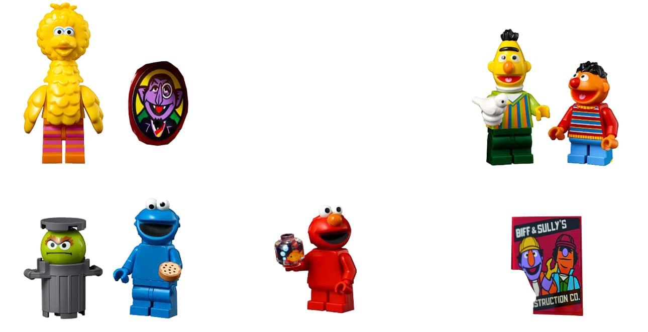 LEGO 21324 Sesamstrasse Minifiguren Vergleich 1