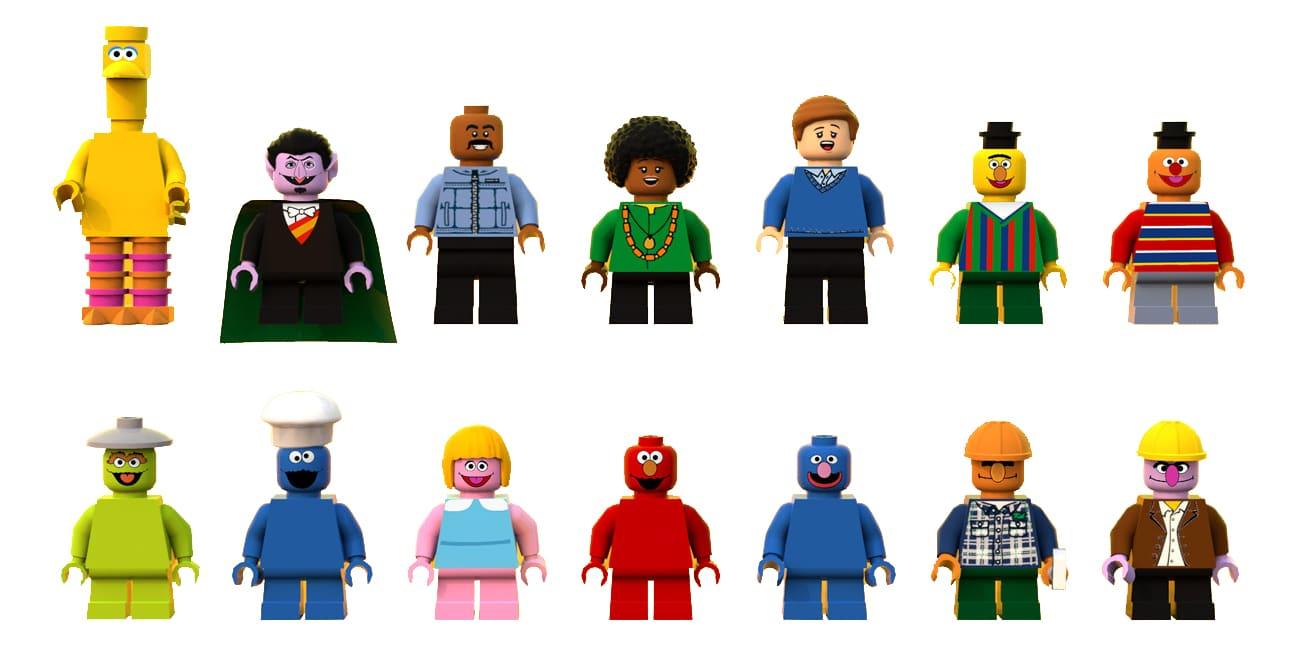 LEGO 21324 Sesamstrasse Minifiguren Vergleich 2