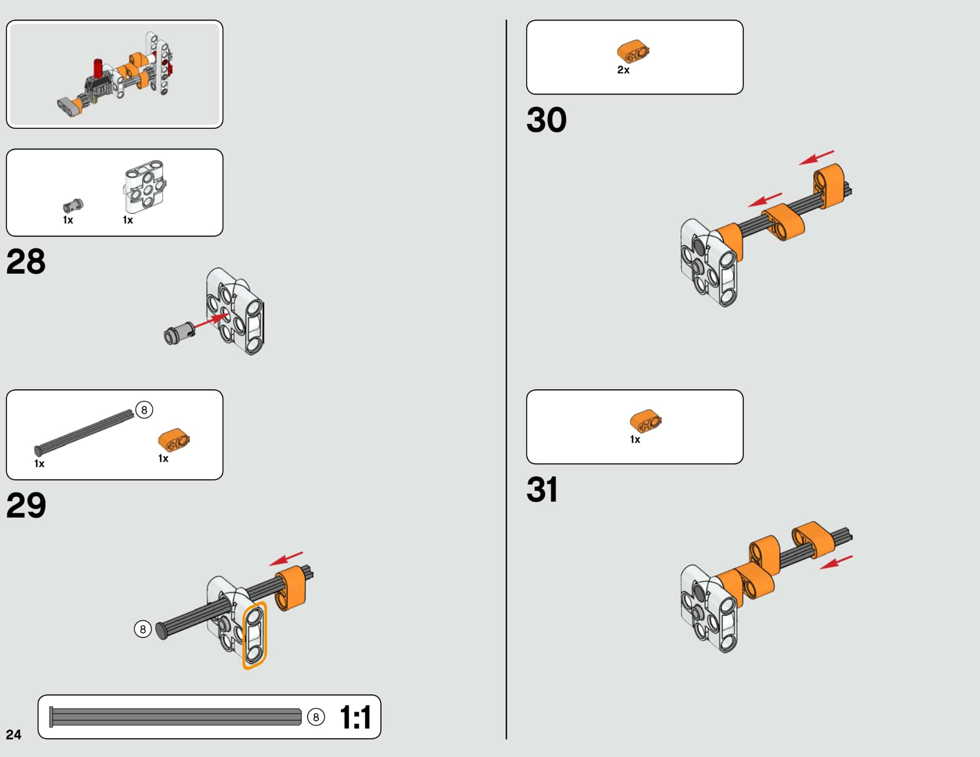LEGO 42112 Betonmischer Lkw - Anleitung Seite 24 neu