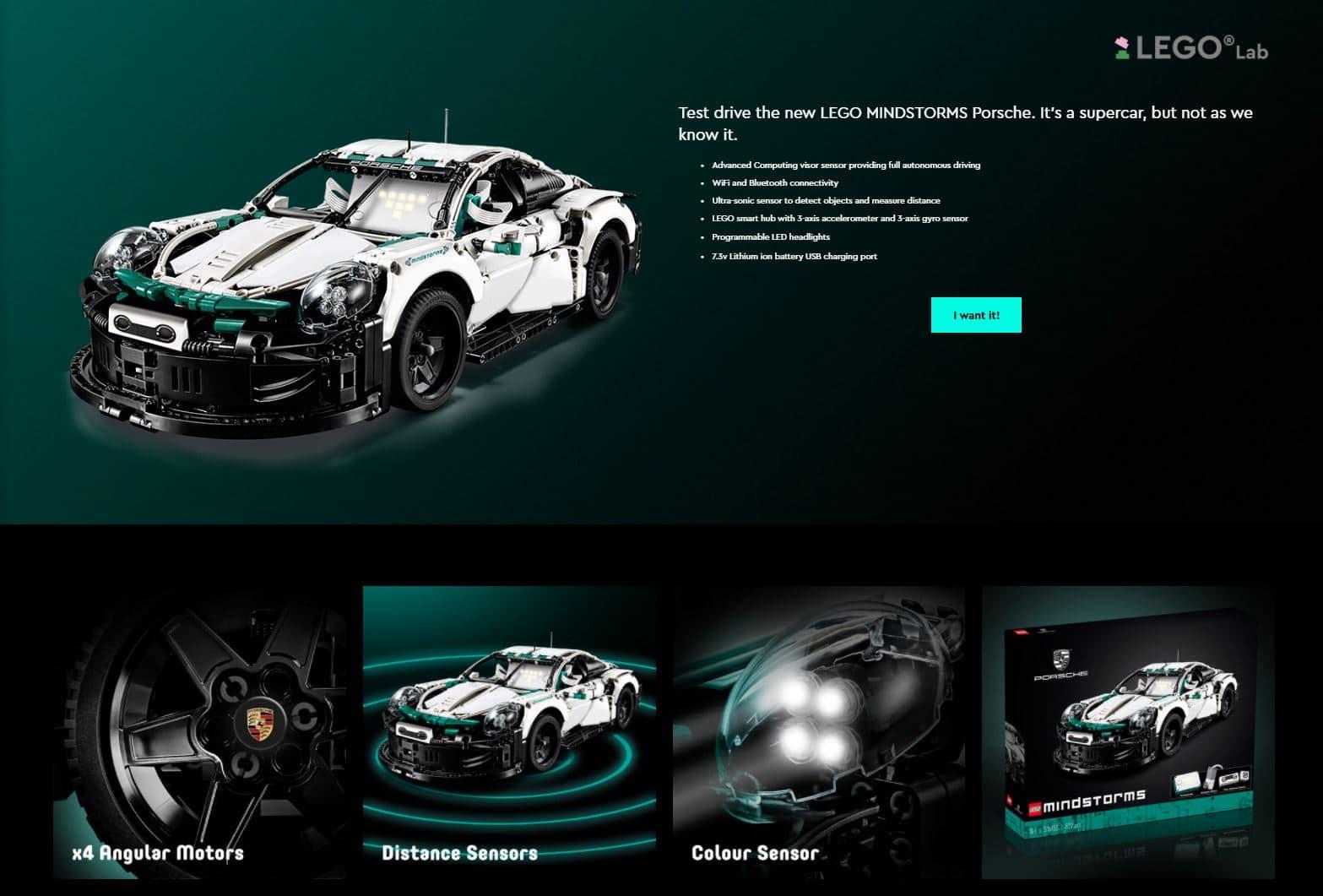 LEGO Lab 51513 Mindstorms Porsche